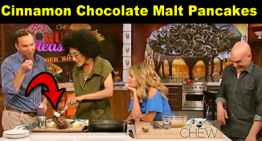 Cinnamon Chocolate Malt Pancakes Recipe – 'The Chew' Carla Hall