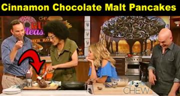 Cinnamon Chocolate Malt Pancakes Recipe – 'The Chew' Carla Hall